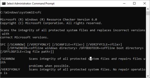 13. System File Checker